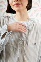 Oversized tunic dress with fine stripes  image