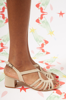 Beige braided leather sandals  image