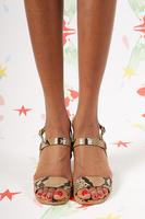 Python printed leather  sandals  image
