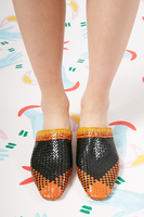 Woven leather Mules  image