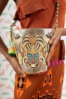 Tiger Bucket Bag with Pompoms image