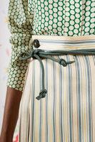 Green slim cord belt  image