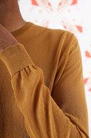 Sheer caramel sweater  image