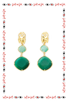 Scarab dangle earrings  image