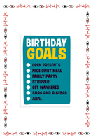 Birthday Goals Card  image