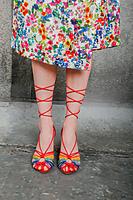 Rainbow Spaghetti string sandals  image