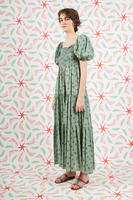 Sage Green Floral Print Maxi Dress  image