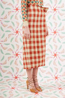 Checked column skirt  image