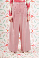 Red and White Striped Palazzo Pants  image