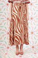 Long zebra print wrap skirt  image