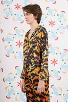 Tiger print pyjama top image