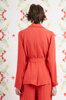 Red jacket with contrast piping  image