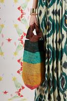 Rainbow Stripe Raffia Bag  image