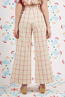 Raspberry Check Pants with Cord Belt image