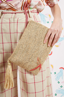Raffia Pouch with Tassel  image
