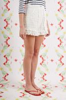 White  Shorts with Ruffles  image