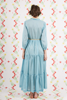 Sky Blue Long Voile Dress image