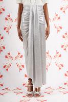 Silver Draped Long Skirt  image