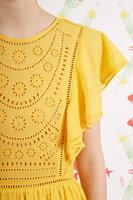 Saffron eyelet embroidery dress  image