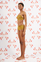 Olive Bandeau Bikini Set  image