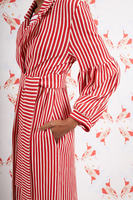 Striped Overcoat with Full Sleeves  image