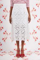 White Broderie Anglais Skirt image