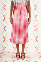 Bubblegum checked Skirt  image