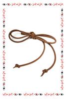 Brown slim cord belt  image