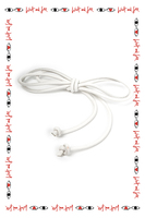 White slim cord belt  image