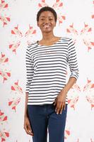 La vita è bella bespoke marinière with Navy and white stripes   image