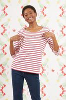 La vita è bella bespoke marinière with red and white stripes   image
