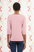 Wait and see bespoke marinière with red and white stripes  image