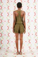 Silk Romper Suit with Lace Trim  image