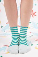 Teal Striped Socks  image
