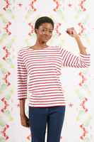 Forever Young Bespoke Marinière With Red And White Stripes image
