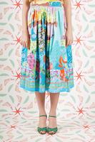 Multicoloured mixed print full skirt  image
