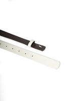 Slim White Leather Belt  image