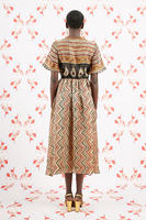 Short Sleeved Geometric Print Dress image