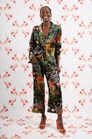 Black Floral and tiger print pyjama set image