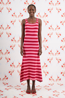 Bubblegum and raspberry striped knitted dress  image