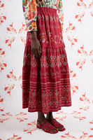 Embroidered long skirt  image