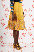 Fern embroidered flared skirt  image