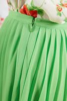 Lime pleated skirt  image