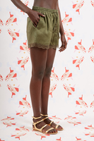 Linen Shorts with Lace Trim  image