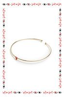 Red Heart Bangle Bracelet  image