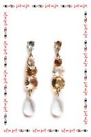 Slim Crystal Drop Earrings  image