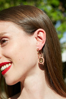 Hoop and Drop Crystal Earrings  image