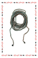 Teal Long Beaded Necklace  image