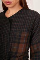 Plaid boxy jacket  image