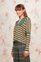 Striped boxy sweater  image